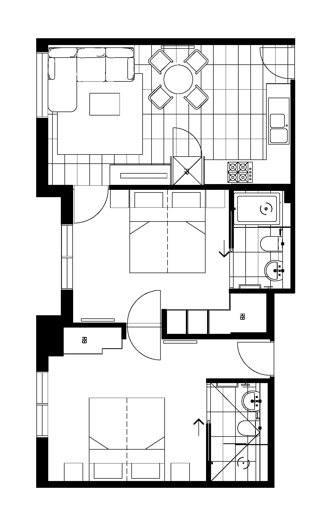 astra room 2 bedroom apartment floor plan vertical