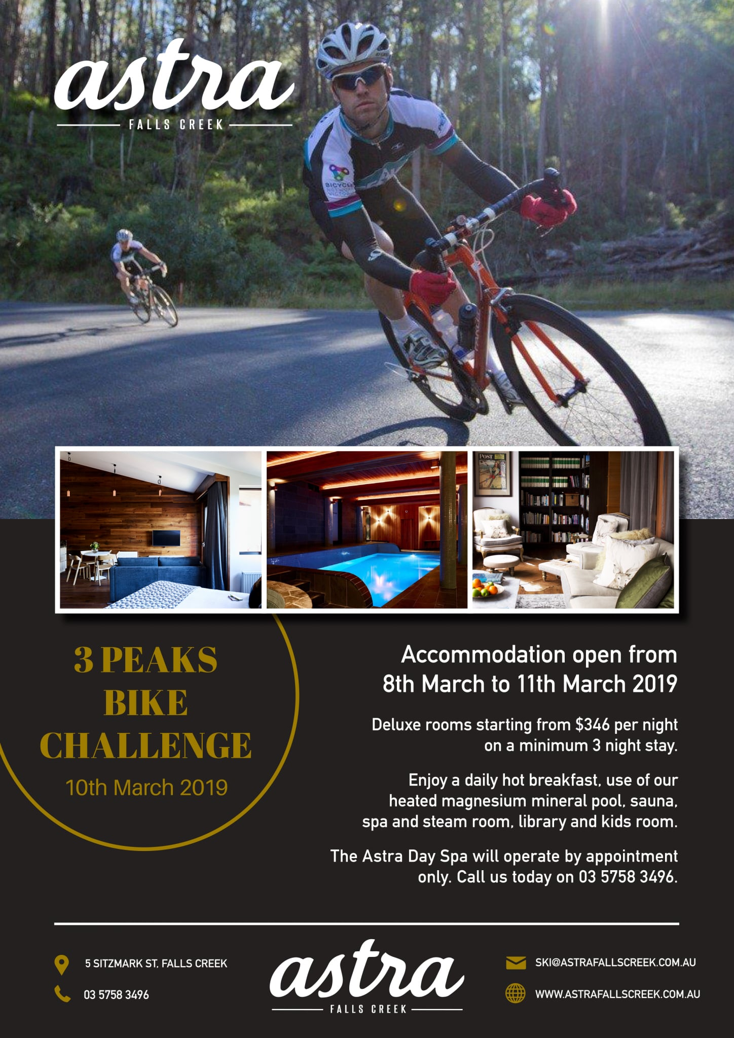 Bike Challenge No Rest at Astra in Falls Creek