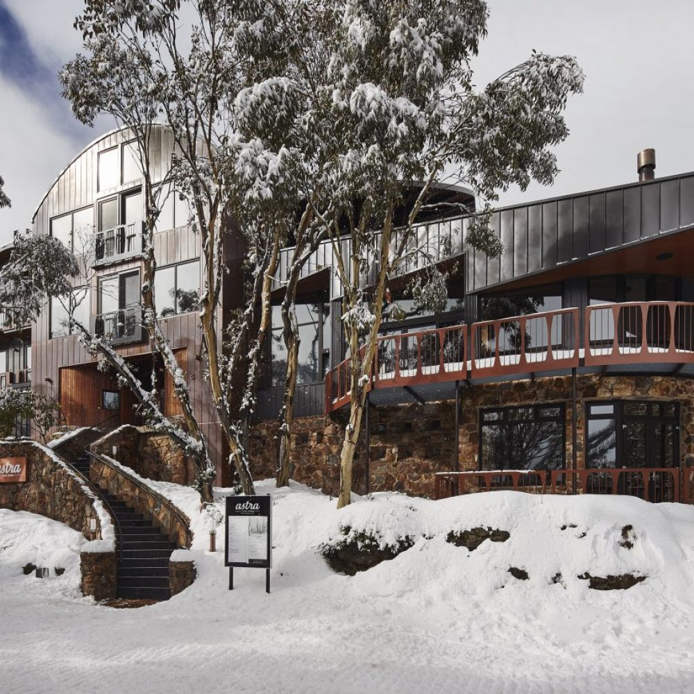 Astra exterior during Falls Creek snow season