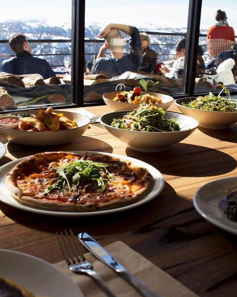 Cloud9 dining and food experience background - Astra Falls Creek