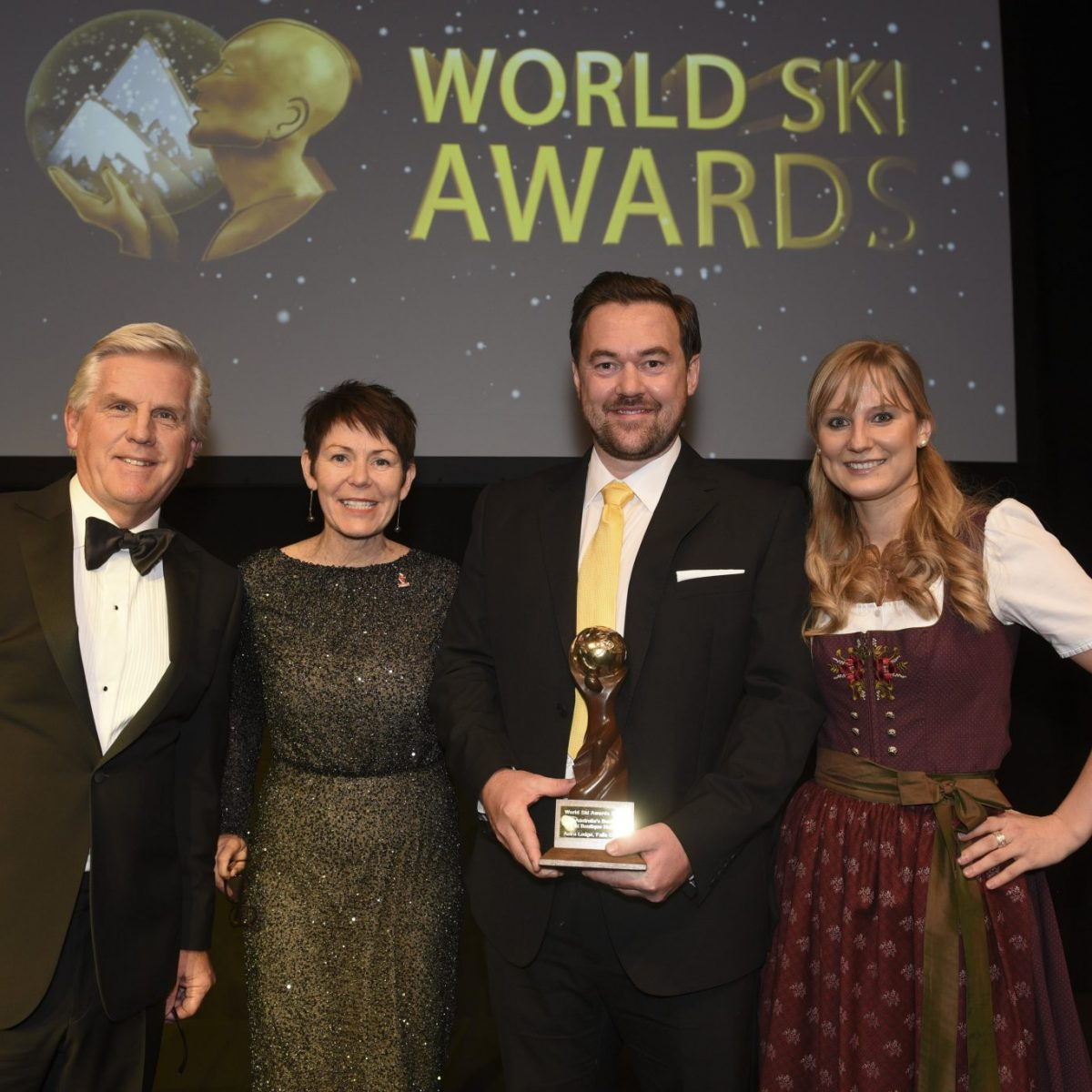World Ski Awards winner - Australia's Best Ski Boutique Hotel 2017 - Mr Steve Rider, Mr Tom Simpson (General Manager)