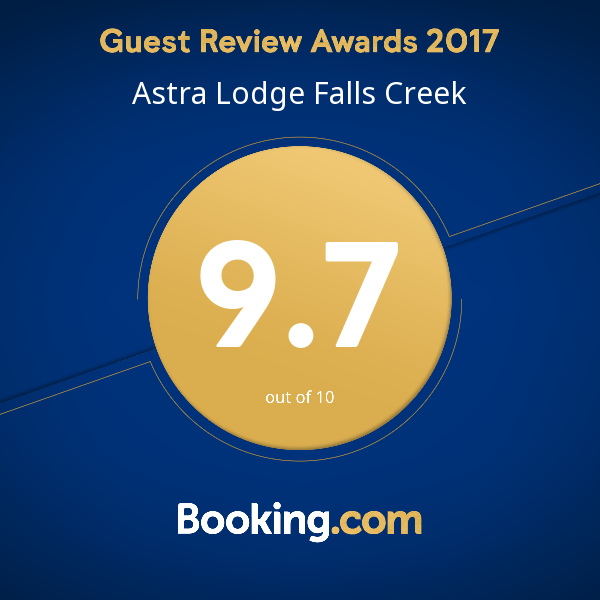 booking.com award - Astra Falls Creek - 9.7 out of 10 - 556843