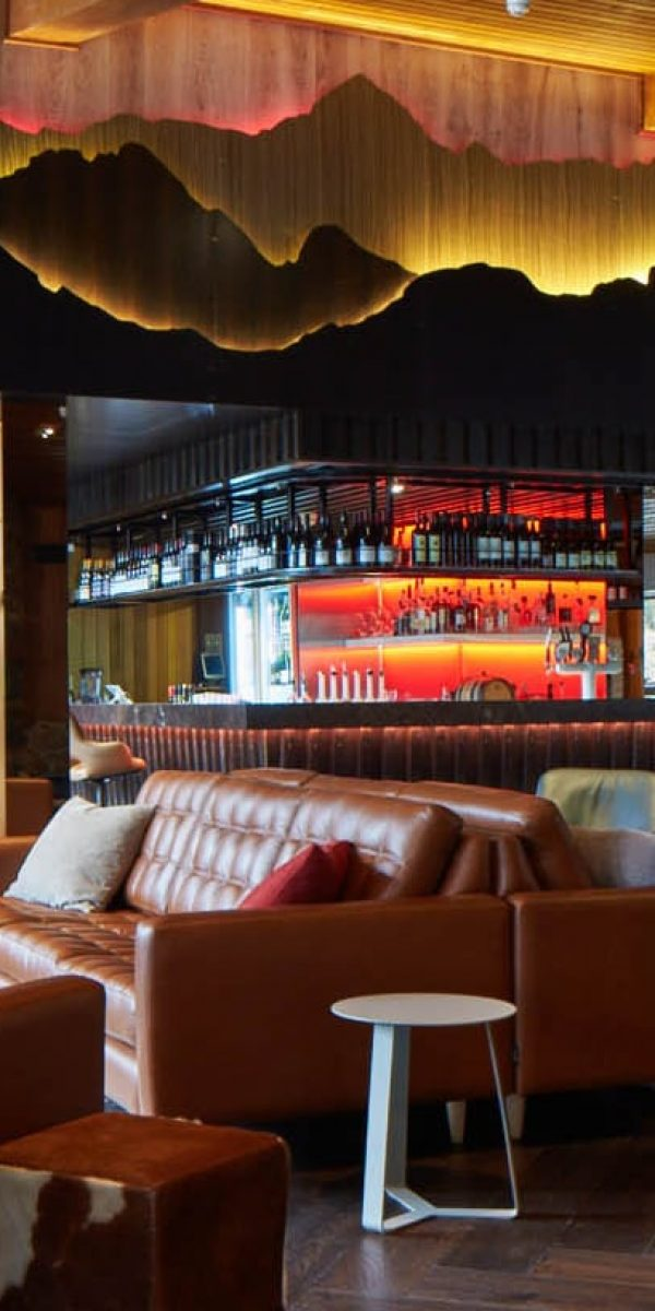 Hang out area in the restaurant and bar at Astra in Falls Creek